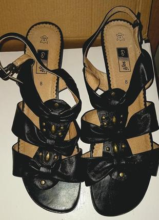 Немецкие кожаные босоножки, оригинал,  go soft