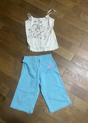 Пижама шорты и майка1 фото