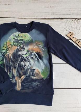 Джемпер волки