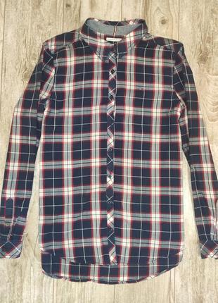 Оригинальная стильная рубашка в клетку tommy hilfiger