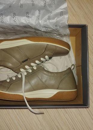 Новые кожаные кроссовки мокасины ecco р. 37 - 37.5 с фирменными ортопедическими стельками