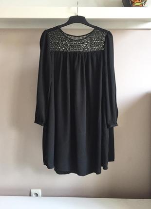 Свободное,натуральное платье с боковыми карманами