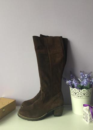 Жіночі демосезонні замшеві чоботи , сапоги