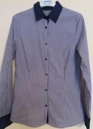 Приятная рубашка в синюю полосочку in extenzo