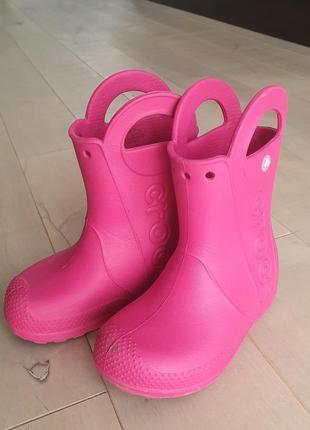 Резиновые сапоги дождевые сапоги crocs c 9