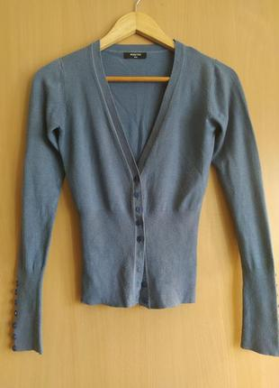 Кофта кардиган свитер синяя на пуговицах