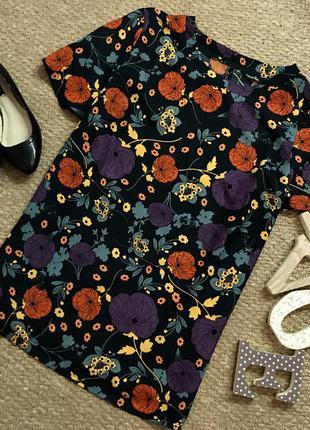 Трендовая блуза в цветочный принт