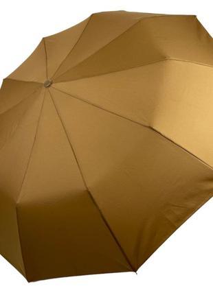 Женский складной зонт-полуавтомат на 10 спиц sl, хаки