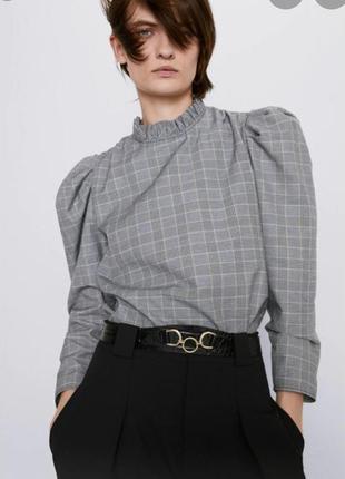 ! классная блуза zara, 69% cotton, новая!!!