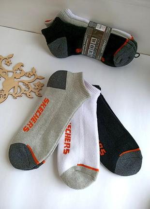 Skechers ! оригинал ! носки 39-43 размера. три пары в наборе! супер качество !!
