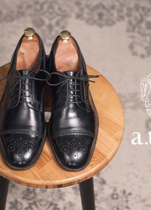 Дерби люкс класса a.testoni, италия 41,5 42 туфли броги кожаные