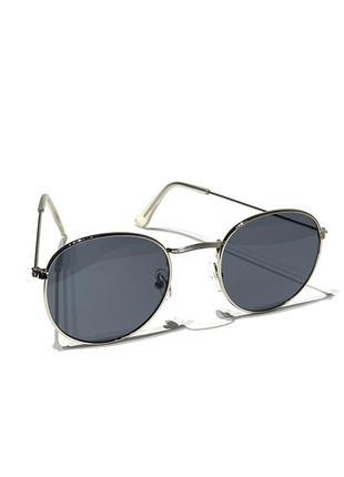 Новые солнцезащитные очки, металлическая круглая оправа, в стиле ретро