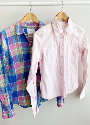 Рубашка блуза ,блузка в клетку h&m