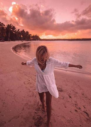 Пляжная туника. пляжная накидка