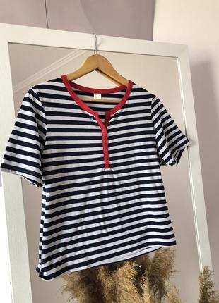 ▪️крута футболка в смужку прямого крою  в стилі zara