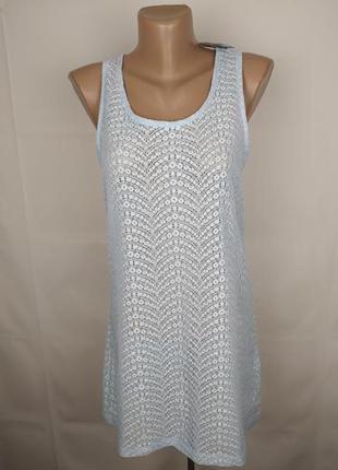 Блуза новая голубая кружевная шикарная uk 16/44/xl