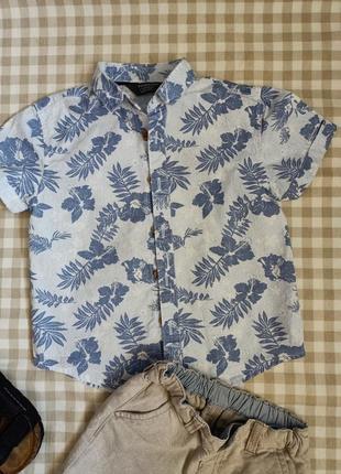 Рубашка с цветочным принтом сорочка