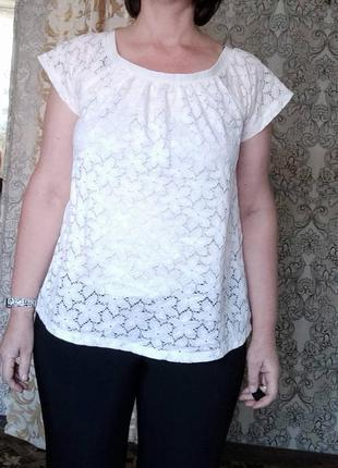 Блузка кроше ажур f&f, 12-14 размер