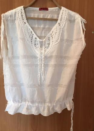 Натуральная брендовая фирменная  летняя  блузка, кофточка, рубашка, топ2 фото