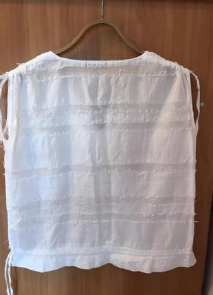 Натуральная брендовая фирменная  летняя  блузка, кофточка, рубашка, топ3 фото