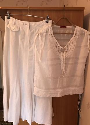 Натуральная брендовая фирменная  летняя  блузка, кофточка, рубашка, топ7 фото