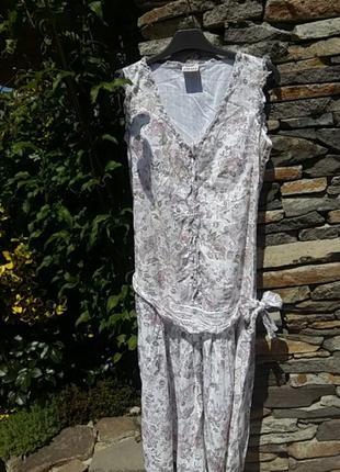 Невероятно красивое котоновое платье. next.