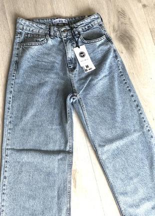 Голубые джинсы кюлоты