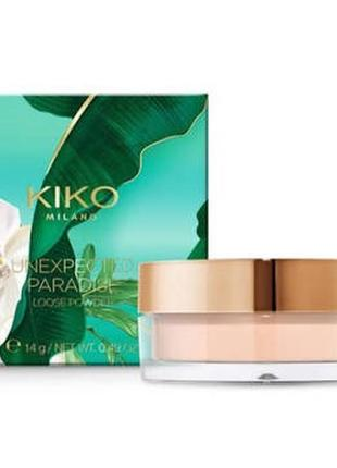Unexpected paradise loose powder матуюча розсипчаста пудра від kiko milano