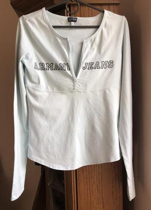 Armani jeans бавовняний реглан,лонгслів 38р. португалія