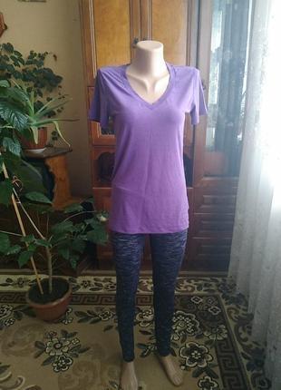 Новый спортивный костюм gap fit breathe(дышащий)лосины разноцвнтные и футболка сиреневая,иордания.