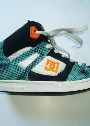 Высокие осенние скейтерские кроссовки dc shoes