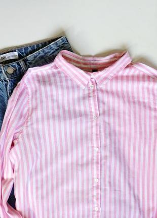 Рубашка полосатая h&m