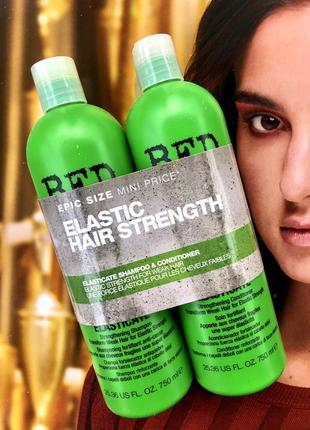 Tigi bed head elastic hair strenght набор для плотности волос шампунь + кондиционер