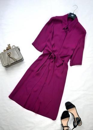 Актуальное платье рубаха миди , на пуговицах, mango, s,m