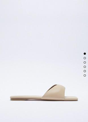 Шлёпки шлёпанцы тапочки тапки кожаные натуральная кожа сандали zara оригинал