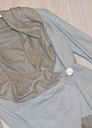 Замшевый пиджак armani collezioni