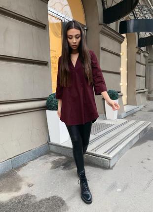 Женская хлопковая блуза