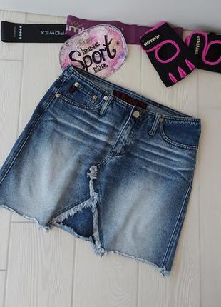 Юбка мини джинсовая оригинал высокая посадка