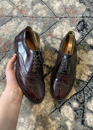Кожаные туфли броги italy