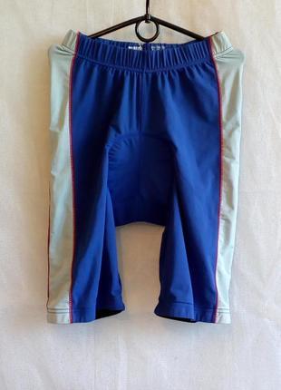 Велошорты match town памперс coolmax dupont размер l цвет синий