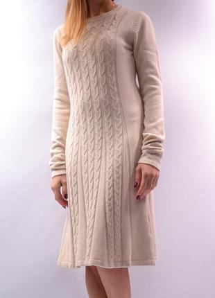 Теплое шерстяное платье миди, италия.
