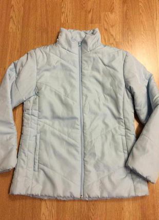 Фирменная теплая куртка george,голубая дутая курточка(весна-осень)+подарок ремешок