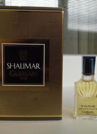 Коллекционная винтажная миниатюра guerlain shalimar