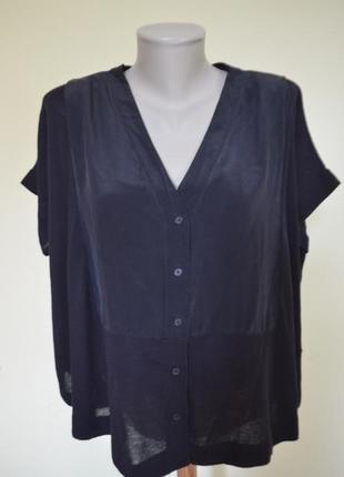 Шикарная брендовая блузочка шелк+коттон свободного фасона от cos