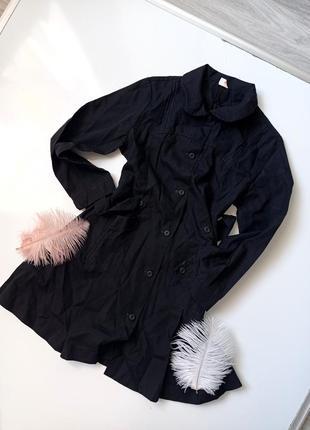 Школьное чёрное платье рубашка  форма платье