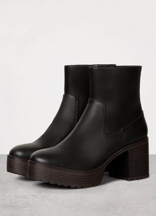 Трендовые ботинки сапоги от бершка 37, 38, 39