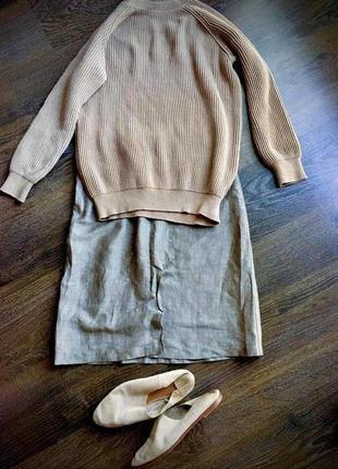 Pret-a-porter, юбка с высокой талией,прямая