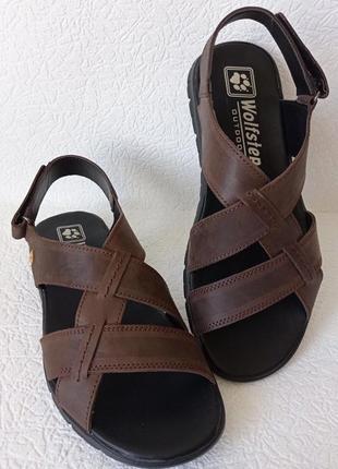 Wolfskin! мужские коричневые сандалии, босоножки из натуральной кожи, сандали классические