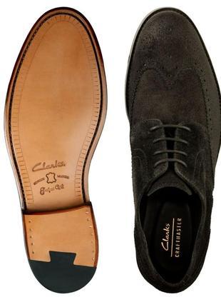Замшевые туфли clarks