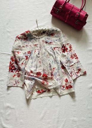 Шикарная хлопковая блуза m&s
